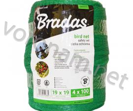 Сетка для защиты от птиц нейлон 4 х 100 м, ячейка 2 x 2 см